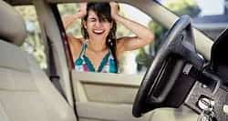 Woman Distressed Locked Keys in car time for Emergency Locksmith Service Tampa Fl